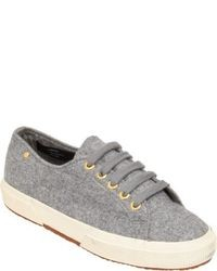The Row Cashmere Low Top Sneakers