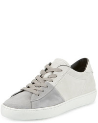 Tod's Cassetta Two Tone Low Top Suede Sneaker Graywhite