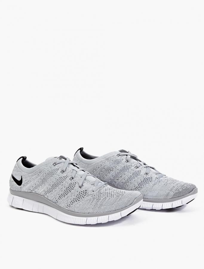 half off c1418 5cdca ... Nike Grey Free Flyknit Nsw Sneakers ...