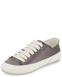 Pedro Garcia Parson Satin Low Top Lace Up Sneakers