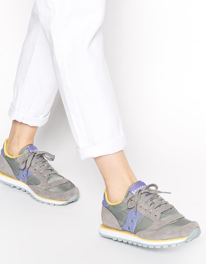 more photos 3be2e 8b6da $109, Saucony Sauncony Jazz Low Pro Graypurple Sneakers
