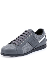 Fendi Softy Lace Up Low Top Sneaker Gray
