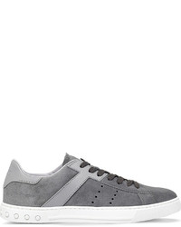 Tod's Tods Panelled Suede And Leather Trainers