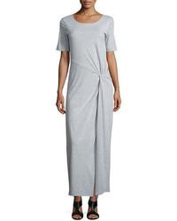 Short sleeve ruched jersey maxi dress medium 706458