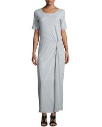 Short sleeve ruched jersey maxi dress petite medium 706490
