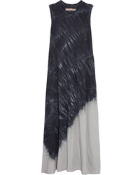 Tie dyed cotton blend jersey maxi dress light gray medium 4394275