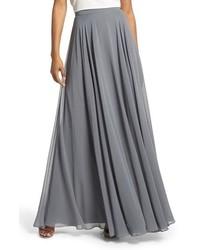 Jenny Yoo Hampton Long A Line Chiffon Skirt