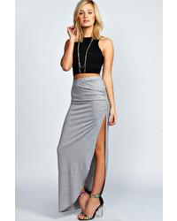 ef94245bbe Women's Grey Maxi Skirts from BooHoo | Women's Fashion | Lookastic.com