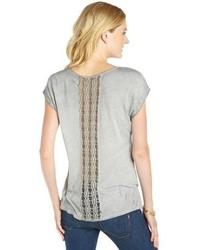 Black Hearts Brigade Peach Cotton Blend Rear Mesh Cutout Detail Short Sleeve Tunic