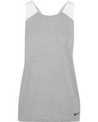 Nike Jersey Mesh And Poplin Tank Light Gray