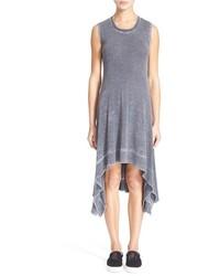 Alice + Olivia Fabrice Burnout Jersey Midi Dress