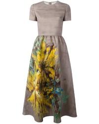 Valentino Painted Effect Midi Dress