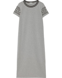 Kenzo Printed Cotton Jersey Midi Dress