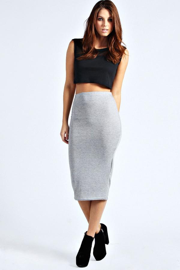 bb931f05dc0 ... Boohoo Lexi Midi Jersey Tube Skirt ...
