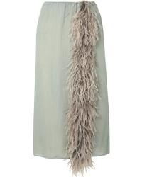 Prada Med Silk Tte Skirt
