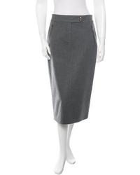 Michael Kors Michl Kors Wool Midi Skirt