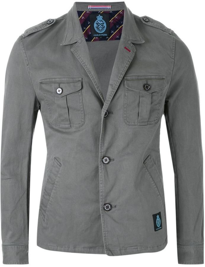GUILD PRIME Notched Lapel Military Jacket