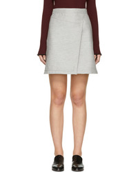 Carven Grey Wrap Miniskirt