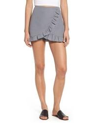 Mimi Chica Ruffle Trim Gingham Skirt