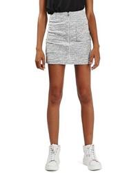 Topshop Scratch Boucle Miniskirt