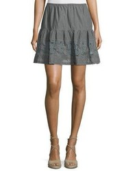 The Great The Jubilee A Line Mini Skirt Gray