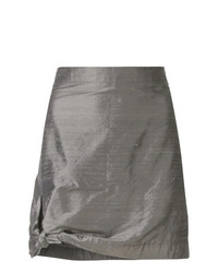 Giorgio Armani Vintage Tied Detail Fitted Skirt