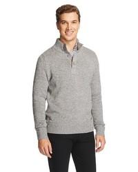 Merona Button Mock Neck Sweater Manhattan Mist Tm