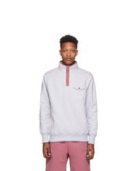 Aimé Leon Dore Grey Half Button Sweatshirt