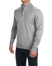 Peter Millar Silk Cashmere Sweater Zip Neck
