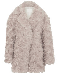 Maison Margiela Oversized Mohair Coat Gray