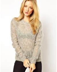 American Vintage Owatana Chunky Sweater In Kid Mohair