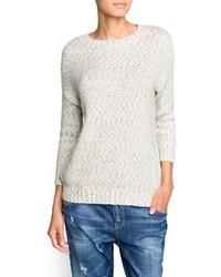 Mango Outlet Metallic Details Mohair Sweater