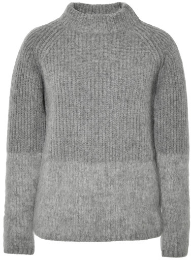 No.21 No 21 Wool And Mohair Blend Ribbed Sweater Grey | Where to ...