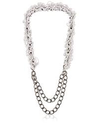 Alienina Altrove Brass And Nylon Chain Necklace