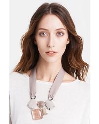 Fabiana Filippi Multi Stone Necklace Grey Multi