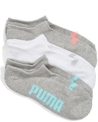 Puma 3 Pack No Show Socks