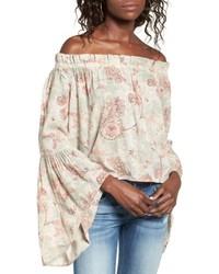 Bell sleeve off the shoulder blouse medium 4951569