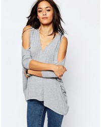 Asos Collection Oversized Cold Shoulder Super Soft Asymmetric Hem