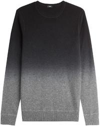 Grey Ombre Crew-neck Sweater