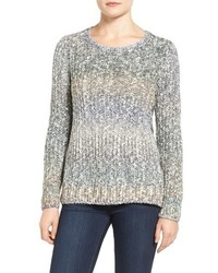 Lucky Brand Lace Up Ombre Sweater