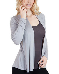 Agiato Modern Long Sleeve Basic Cardigan Grey Sweaters