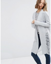 Asos Collection Cardigan With Ladder Stitch Detail