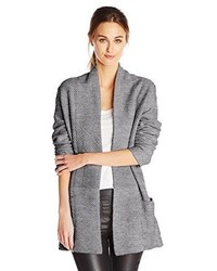 BCBGMAXAZRIA Ginata Shawl Collar Open Front Cardigan Sweater