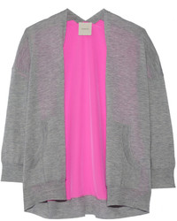 Mason by Michelle Mason Cashmere And Neon Silk Cardigan