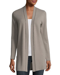 Neiman Marcus Cashmere Collection Chain Trim Cashmere Duster