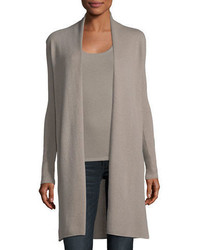 Neiman Marcus Cashmere Collection Classic Cashmere Duster Cardigan Plus Size