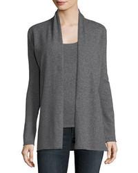 Neiman Marcus Cashmere Collection Classic Draped Cashmere Cardigan Plus Size