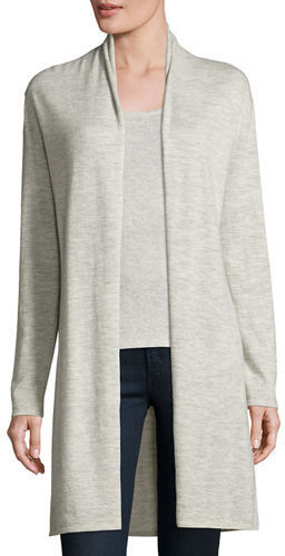 Neiman Marcus Cashmere Collection Superfine Cashmere Open Cardigan