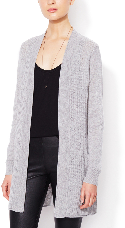 Cashmere Waffle Knit Open Front Cardigan   Where to buy & how to wear