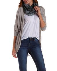 Charlotte Russe Oversized Slub Knit Cocoon Cardigan